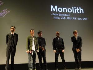 Presentazione del film Monolith, una porduzione italiana Sky Italia Lock & Valentine, colonna sonora di Diego Buongiorno edizioni Flippermusic e Lock & Valentine