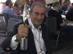 Romano Di Bari, edizioni FlipperMusic dopo aver ricevuto il Mark Awards 2017 della Production Music Associationion
