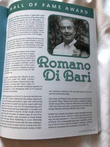 Presentazione di Romano Di Bari sulla rivista del PMC - Mark Awards 2017