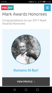Romano Di Bari presidente di flipperMusic riceverà il Mark Awards del PMA , premio prestigioso nel settore Production Music