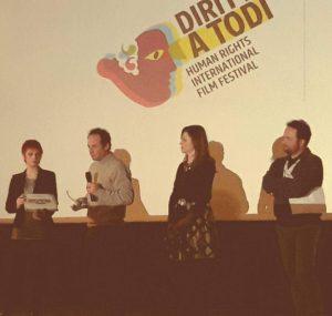 FlipperMusic consegna il premio per la miglior colonna sonora durante Human Rights International Film Festival, Diritti a Todi
