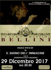 Il Maestro Paolo Vivaldi sarà in concerto il 29 Dicembre al Teatro Massimo Bellini di Catania per Il suono dell'Immagine