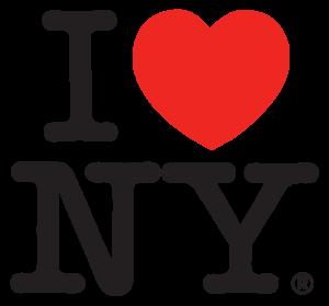 Rappresentazione Iconografica dell'amore attraverso il simbolo del cuore, I love NY