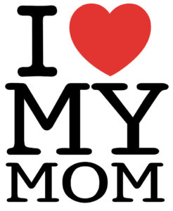 Rappresentazione Iconografica dell'amore attraverso il simbolo del cuore, I love Mom