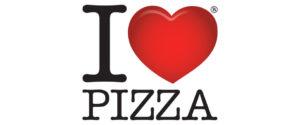 Rappresentazione Iconografica dell'amore attraverso il simbolo del cuore, I love Pizza