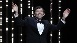 Marcello Fonte vincitore del premio come miglior attore protagonista per Dogman di Matteo Garrone al Festival di Cannes 2018