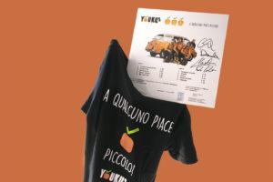 Youkus, maglietta e Vinile autografato di A qualcuno piace piccolo, edizioni FlipperMusic
